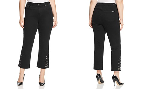 Seven7 Jeans Plus Grommet-Trim Bootcut Ankle Jeans in Abbys Black - Bloomingdale's_2